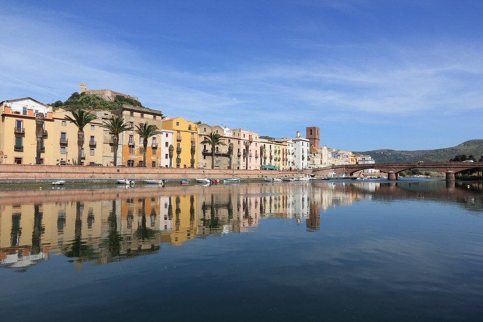Pretty town of Bosa, Sardinia