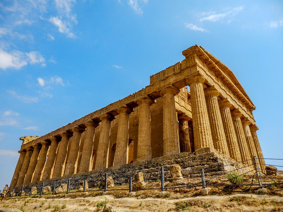 The Temple of Concordia in Agrigento, Sicily