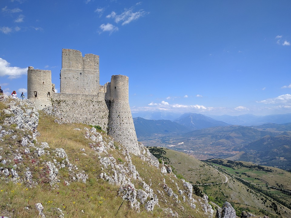 Pretty hillside castle in Abruzzo