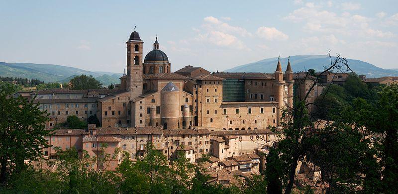 A view of Urbino, Le Marche.