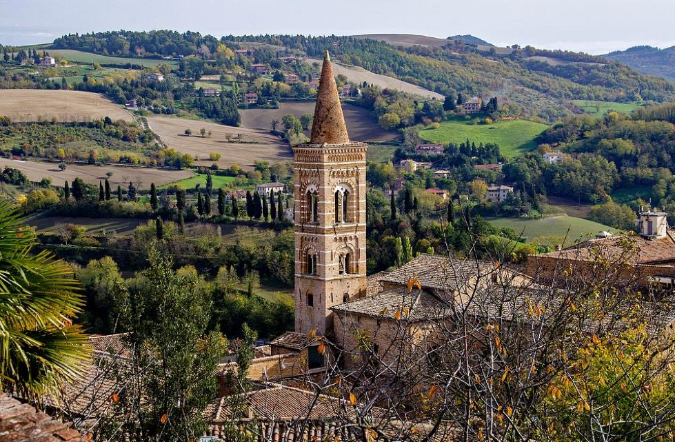 A gothic structure in Urbino, Le Marche