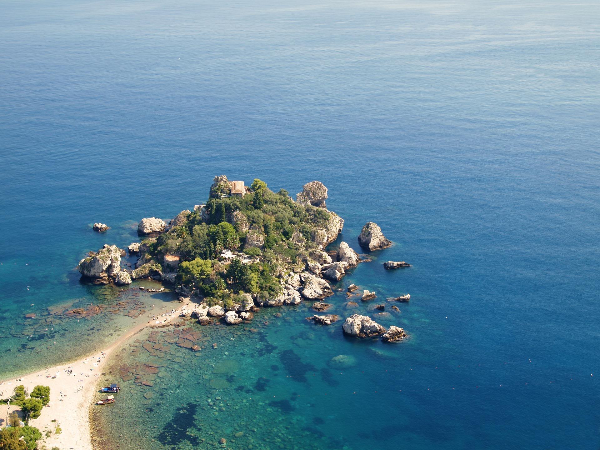 Isola Bella in Taormina in Sicily, Italy