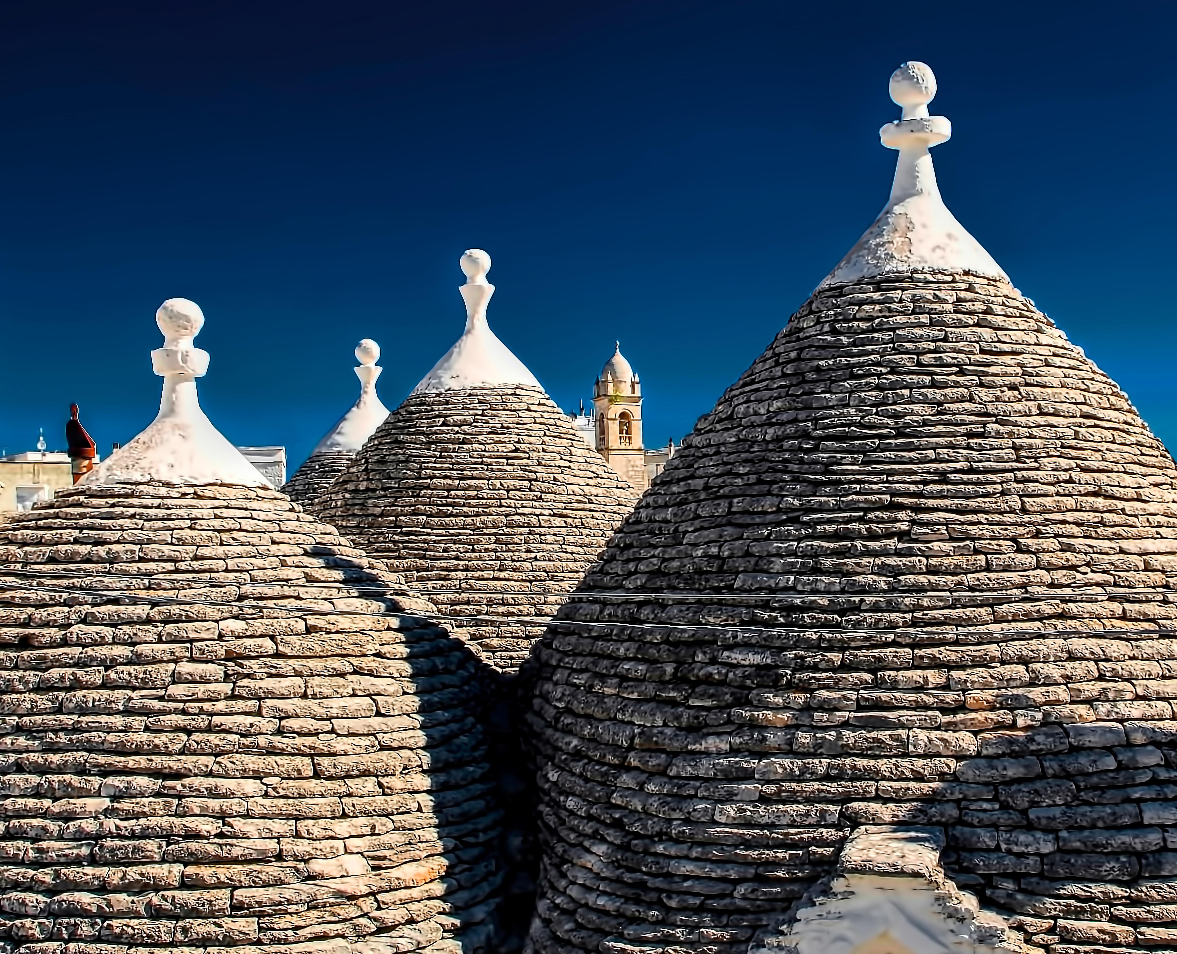 trulli rooftops in Alberobello