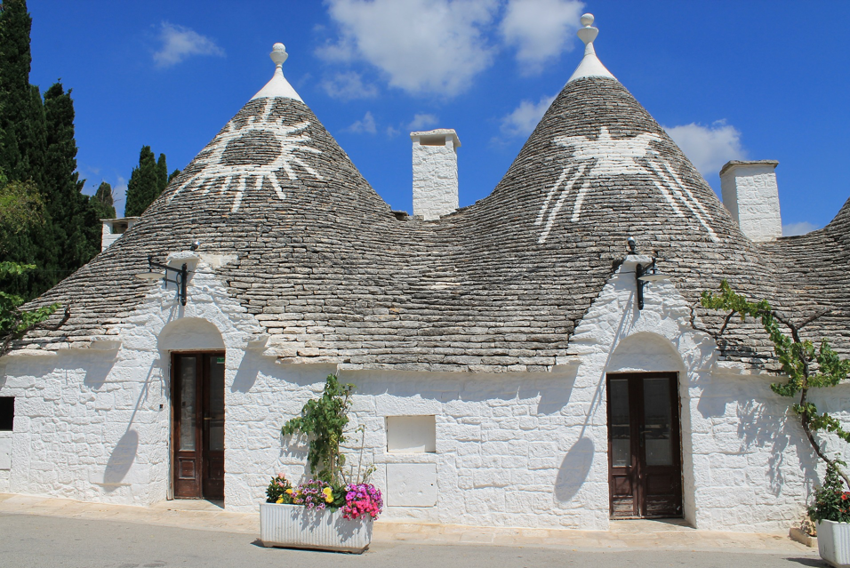 Traditional Trulli Houses in Alberobello, Puglia