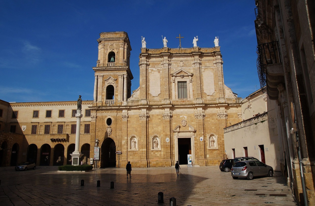 The cathedral in Brindisi, Italy