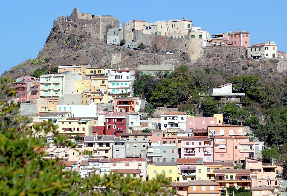 Castelsardo town in Sardinia, Italy