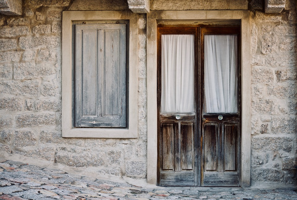 An old home on a street in Sardinia, Italy