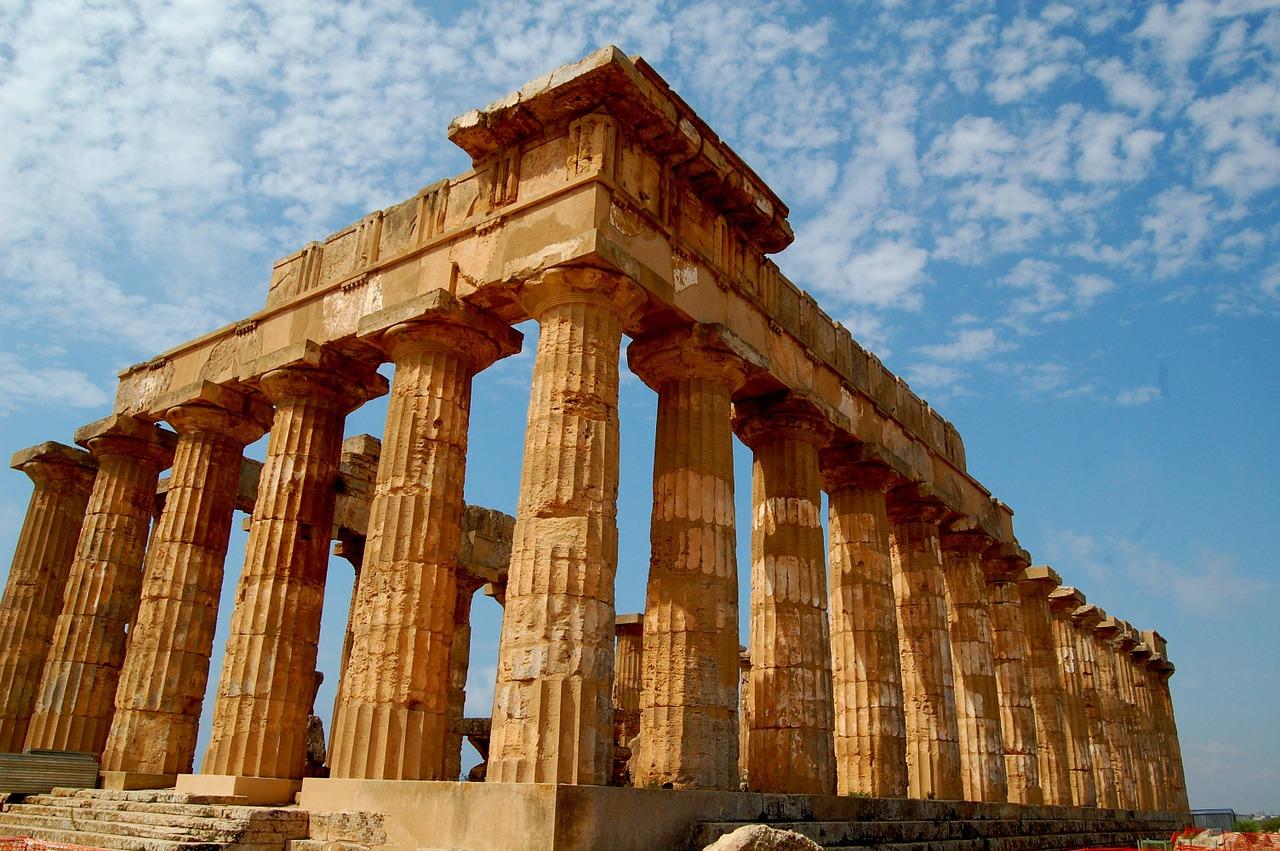 Ruins of Greek temple.