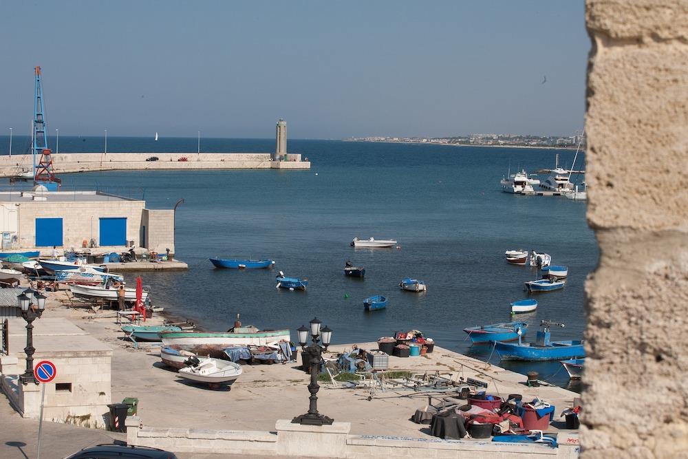 A port in Bari.