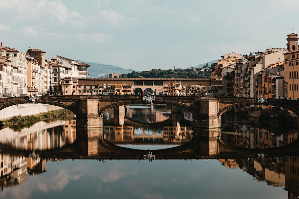 bridge in florence over river