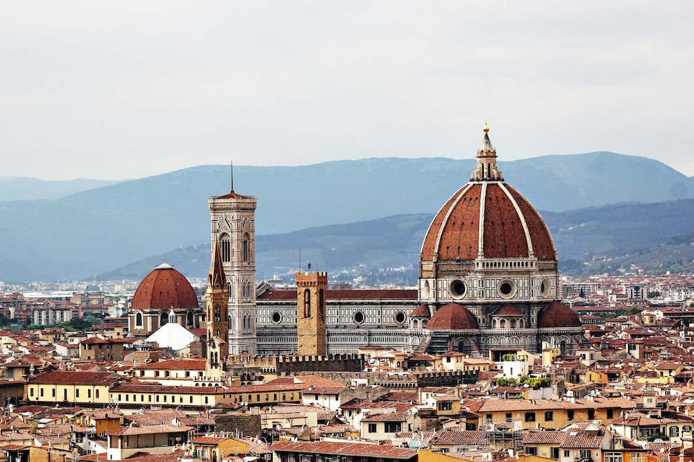 view of Florence city and Duomo