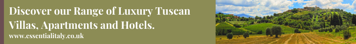 Discover our range of luxury Tuscan villas banner with a field in Tuscany